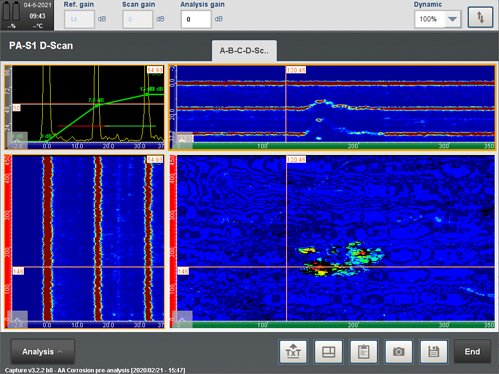 Capture Software Display During Corrosion Mapping