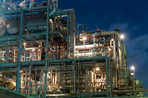 Industry factory in kawasaki at night-1