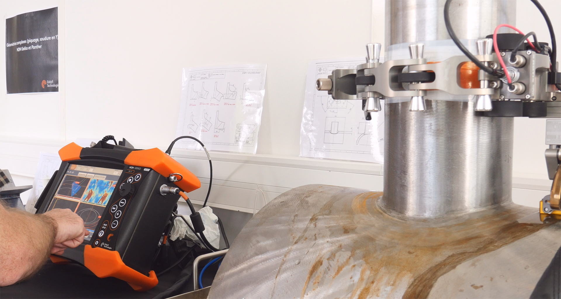 Pressure Vessel Nozzle Inspection – Better and Faster with the M2M Gekko™ | Eddyfi